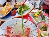 会席の料理の一例(食材・料理は変わります。写真はイメージです。)