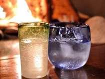 琉球グラスと泡盛