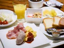 朝食一例(洋食)朝食付プランをご希望のお客様は和食・洋食からお選びいただけます。