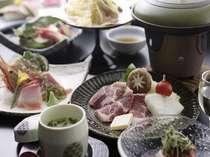 『ばんじ家一押し』・竹コース 旬の食材を厳選し、目で舌で楽しめる和会膳。お料理12品