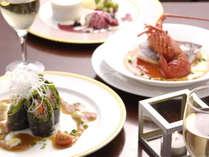 【ご夕食一例】伊豆の新鮮な海の幸と、旬の食材を使用した創作料理に舌鼓を♪