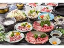 契約牧場産最高級黒毛和種『みかわ牛』ステーキ&すき焼き食べ放題料理