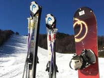 *レンタルスキー(イメージ)/ご宿泊のお客様は特別料金にてご利用いただけます。