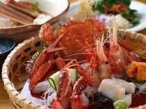 北海道産の新鮮な蟹を様々なお料理でお召し上がりください(写真はイメージです)