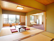 *【客室一例】畳敷きですので、もし転んでしまっても安心。広々空間の和洋室。