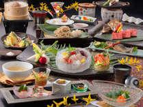 """【安健美食会席】""""岐阜名産の飛騨牛""""と""""富山湾の鮮魚""""どちらもご堪能いただけます♪"""
