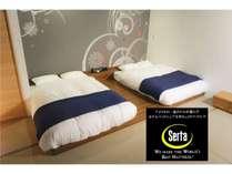全米no.1の高級マットレス「サータ」DXタイプを導入しました。最高の寝心地をお届けします。