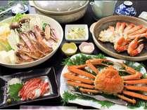 かに・カニ・蟹!のボリューム満点かに三昧プラン☆かにすき・焼きがに・湯でがに・かに刺し・〆には雑炊を