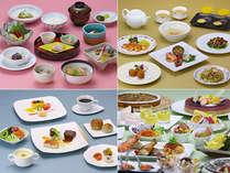 洋食、和食、中華、ブッフェ料理の4つのレストランから選べるリゾートディナー☆