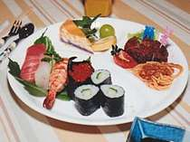 寿司付お子様メニューの一例寿司なしメニューも可