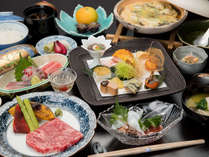 *【お夕食一例】初秋のお夕食一例・メインのお肉料理は国産牛のステーキをご提供いたしております。
