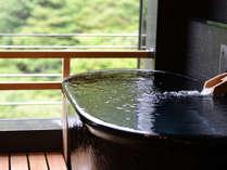 雄大な景色を望む、客室露天風呂(温泉)