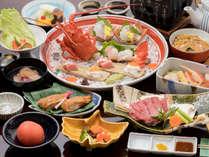 【満月会席】 伊勢海老や明石鯛等、豪華な食材をふんだんに使ったお料理。