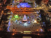 【ホワイトイルミネーション】真っ白な札幌の街に、カラフルなイルミネーションが可愛らしく光ります☆