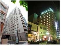 ホテル外観(昼夜)