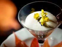 【ご夕食一例】グランデフルコース冬メニューより 日高産ホタテのロワイヤル キャビアとともに
