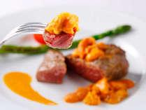 朝夕食ともに、質と品数をアップグレードさせた 「グランデフルコース・プラン」春1