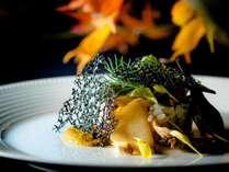 【ご夕食一例】ワンランク上の「グランデフルコース・プラン」秋メニューより お魚料理の一例