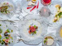 【夕食一例】グランデフルコース夏メニュー