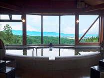 【大浴場】窓の外には高田平野の大パノラマ!
