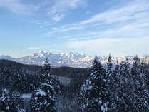 冬・当宿から見える妙高連山