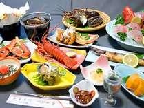 【名物コース】2大美食を丸ごと堪能♪「鮑」と「伊勢海老」を食べ尽くしプラン