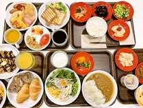 朝食はビュッフェは5:30から!パンや卵料理等の洋食から、ご飯やみそ汁、煮物等の和食まで充実の品揃え。