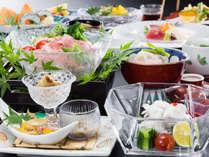 【ご夕食一例・夏】目にも美しいお料理をご堪能いただけます。