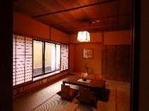 【新(あらた)】和室。10畳にリビング6畳付き。各室ともテーマの色、知る楽しみの一つです