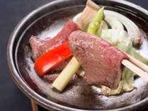 *【スタンダード一例】陶板焼き:お好きな焼き加減で食べる島根和牛