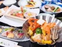 ◆極み会席◆大満足!お肉もお魚も堪能◆大自然に囲まれたさひめ野で
