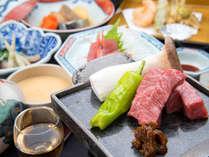 *[夕食一例]山形牛の美味しさをシンプルなステーキで堪能!季節ごとの旬の食材に舌鼓。