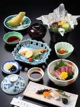 旬の和定食(1例)☆限られた予算!でもチョッピリ贅沢にお食事を楽しみたい!