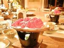 飛騨牛をメインにした夕食(一例)