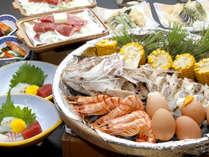 宝楽焼+ステーキ+天ぷら