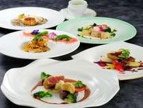 シェフのスペシャルディナー(★★★)お料理の一例。2018.03~
