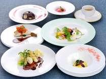 シェフのスペシャルディナー(★★★)お料理の一例。2019.04~