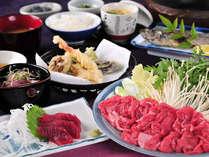 ボリューム満点の夕食※写真は一例です
