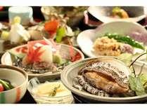 あわびが新鮮♪あわびの踊り焼き御膳のお料理一例。