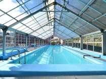 屋内にある温泉プールは通年利用が可能です♪(14時~19時、7時~10時)