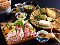 田楽&炭火焼(あか牛、地鶏など5種の肉盛り)プラン