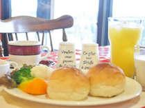 雄大な阿蘇の景色を眺めながら食べる朝食は最高!