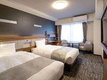 ◆ツインスタンダード◆ベッド幅123cm×2台◆23㎡◆