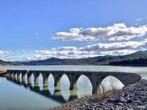 2017年9月22日のタウシュベツ川橋梁。水位もだいぶ上昇しメガネ橋になってきました。今が見ごろです。