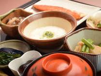 *朝食一例/朝の胃に嬉しい、とろろや上州名産花豆などの和朝食をご用意いたします