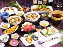夕食は「山形県産黒毛和牛膳」と「おばんざいバイキング」旬の食材をふんだんに使った料理に舌鼓