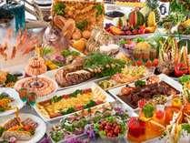 【ブッフェイメージ】地元の食材、旬の食材を使用しておもてなし致します。