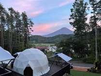 全ドームから富士山が望めます。
