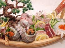 舟盛り付!来島海峡の海の幸たっぷり和会席プラン
