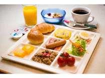 朝食ハ゛イキンク゛例